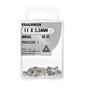 Deltafix Kraalringen nikkel 11x3.5 mm 20 stuks