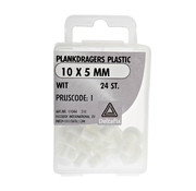 Deltafix Plankdragers Plastic 10x5mm Wit 24 Stuks