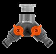 "Gardena GARDENA 2-weg ventiel 26,5 mm (G 3/4"") / 21 mm (G 1/2"")"