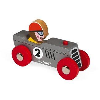 Janod Janod Raceauto Retro Zilver