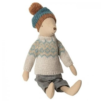 Maileg Maileg Winter Mouse Medium Boy