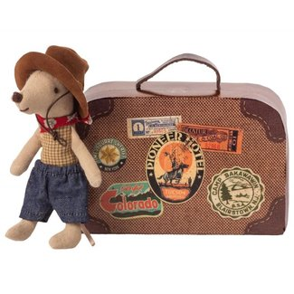 Maileg Maileg Cowboy mouse in suitcase