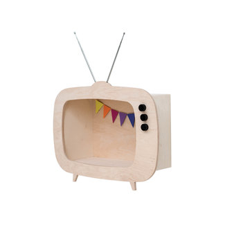 "Up Warsaw Up! Warsaw Wooden Design Wall Cabinet ""TV"" Wood"