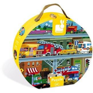 Janod Janod Puzzle - Vehicles 100 pieces