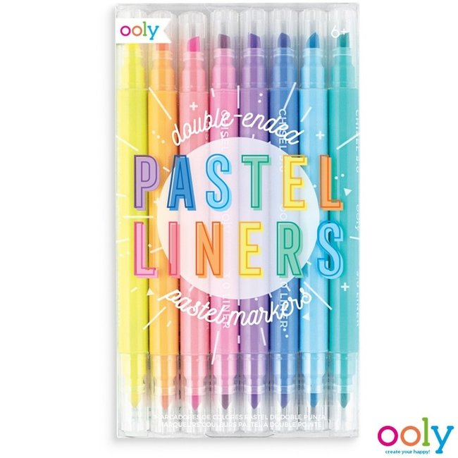 "Ooly Ooly Double-sided pins ""Pastel Liners"""