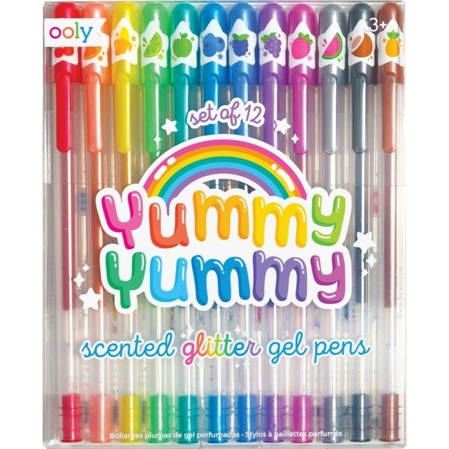 "Ooly Ooly Gel pens with glitter and scent ""Yummy Yummy"""