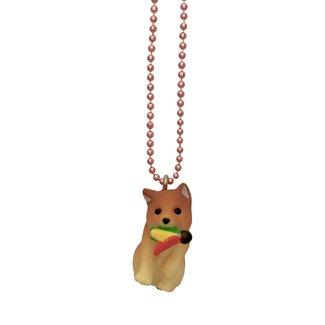 Pop Cutie Pop Cutie necklace dog with badminton shuttlecock