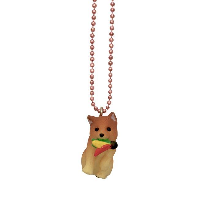 Pop Cutie Pop Cutie ketting hond met badminton shuttle