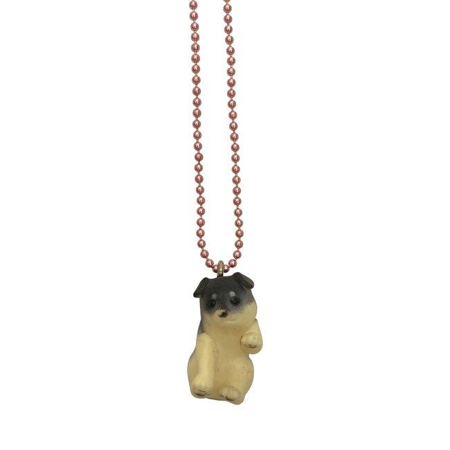 Pop Cutie Pop Cutie necklace dog black/cream