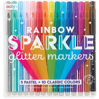 Ooly Ooly set van 15 regenboog glitter stiften 6+