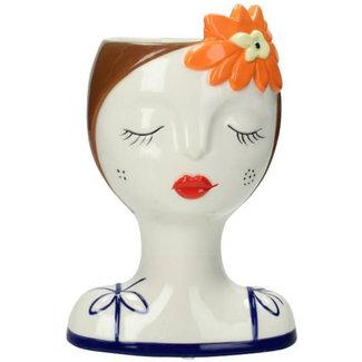 Bon Bon Bleu Vase Flower Girl