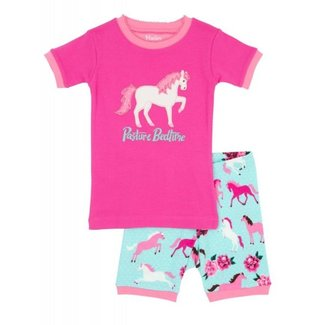 Hatley Hatley Short PJ Set - Ponies & Peonies