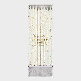 Meri Meri Meri Meri - Verjaardagskaarsen - Goud glitter - 24 stuks - 14cm