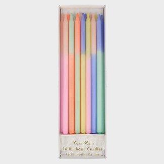 Meri Meri Meri Meri Verjaardagskaarsen - Multi Kleur Block Kaarsen - 16 stuks - 14cm