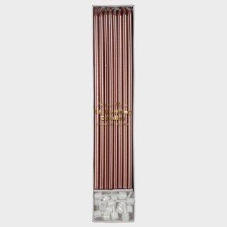 Meri Meri Meri Meri - Lange Verjaardagskaarsen - Metallic Rosé Goud - 16 stuks - 18cm