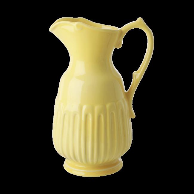Rice ceramic jug yellow