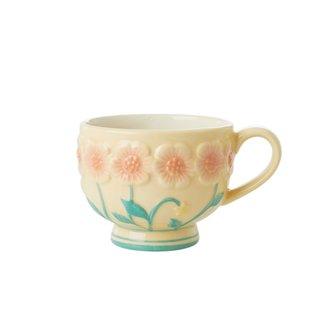 Rice Rice ceramic Mug cream with flowers