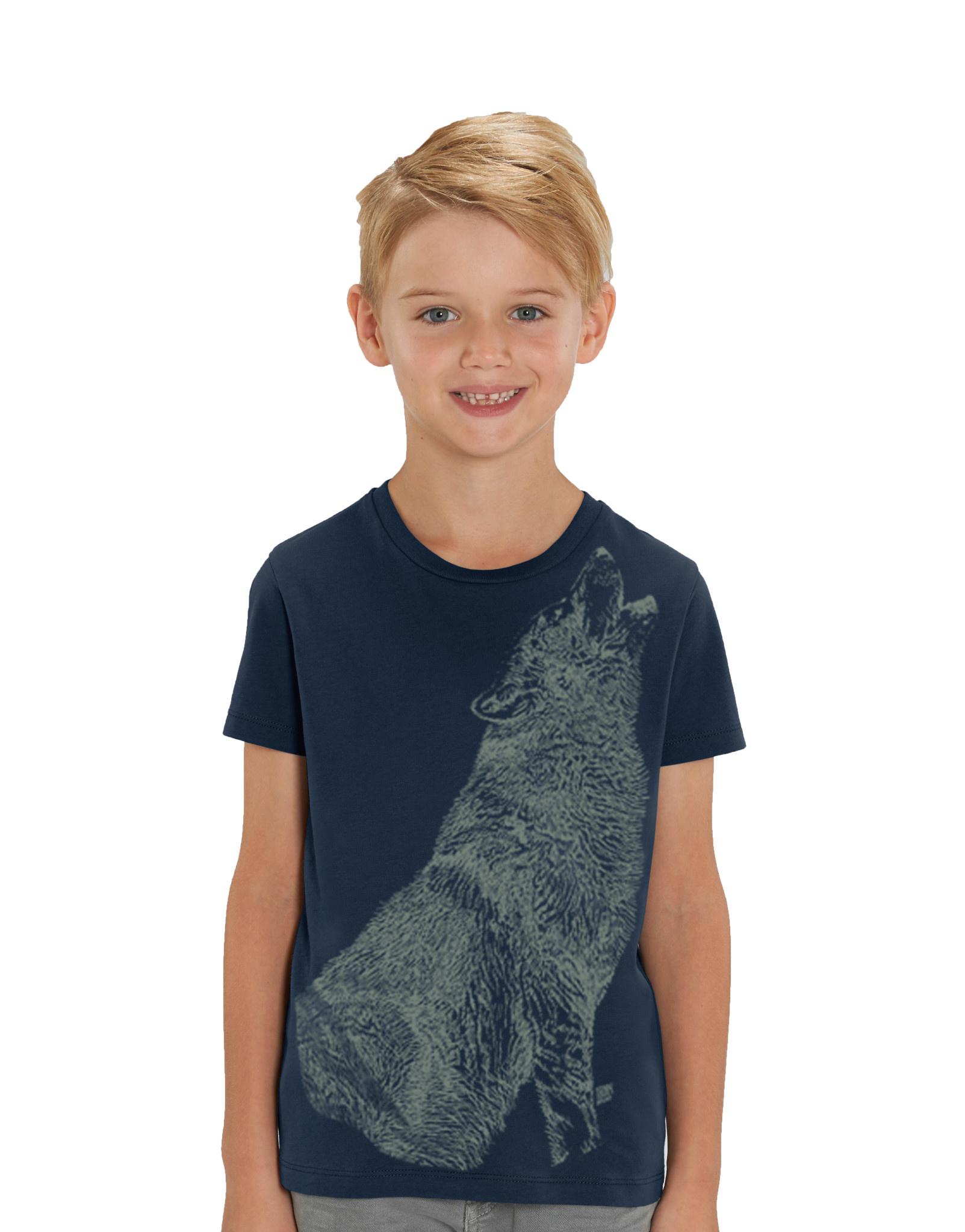 Huilende Wolf T-shirt - Glow In the Dark