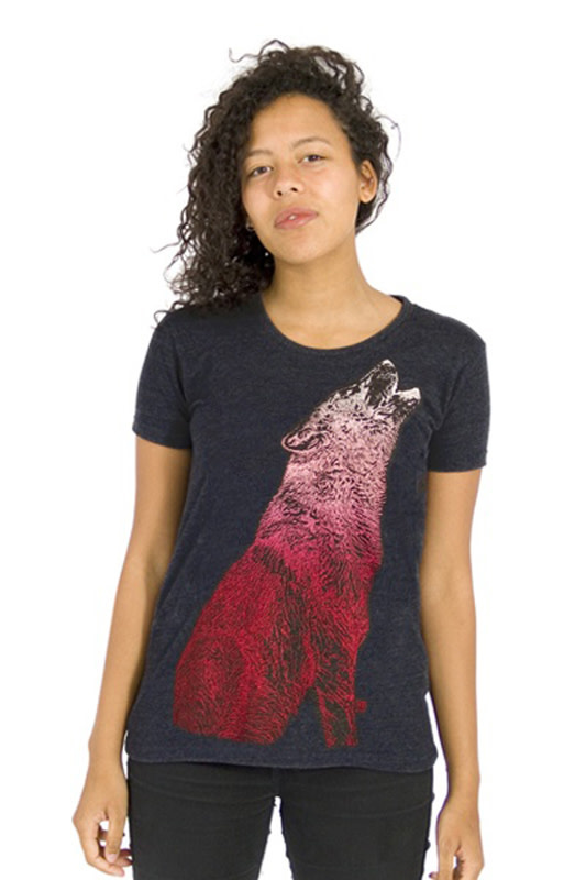 Howling Wolf T-shirt - Recycled