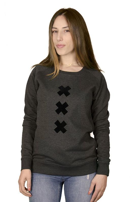 XXX (Suede) Crew Neck Sweater Suede