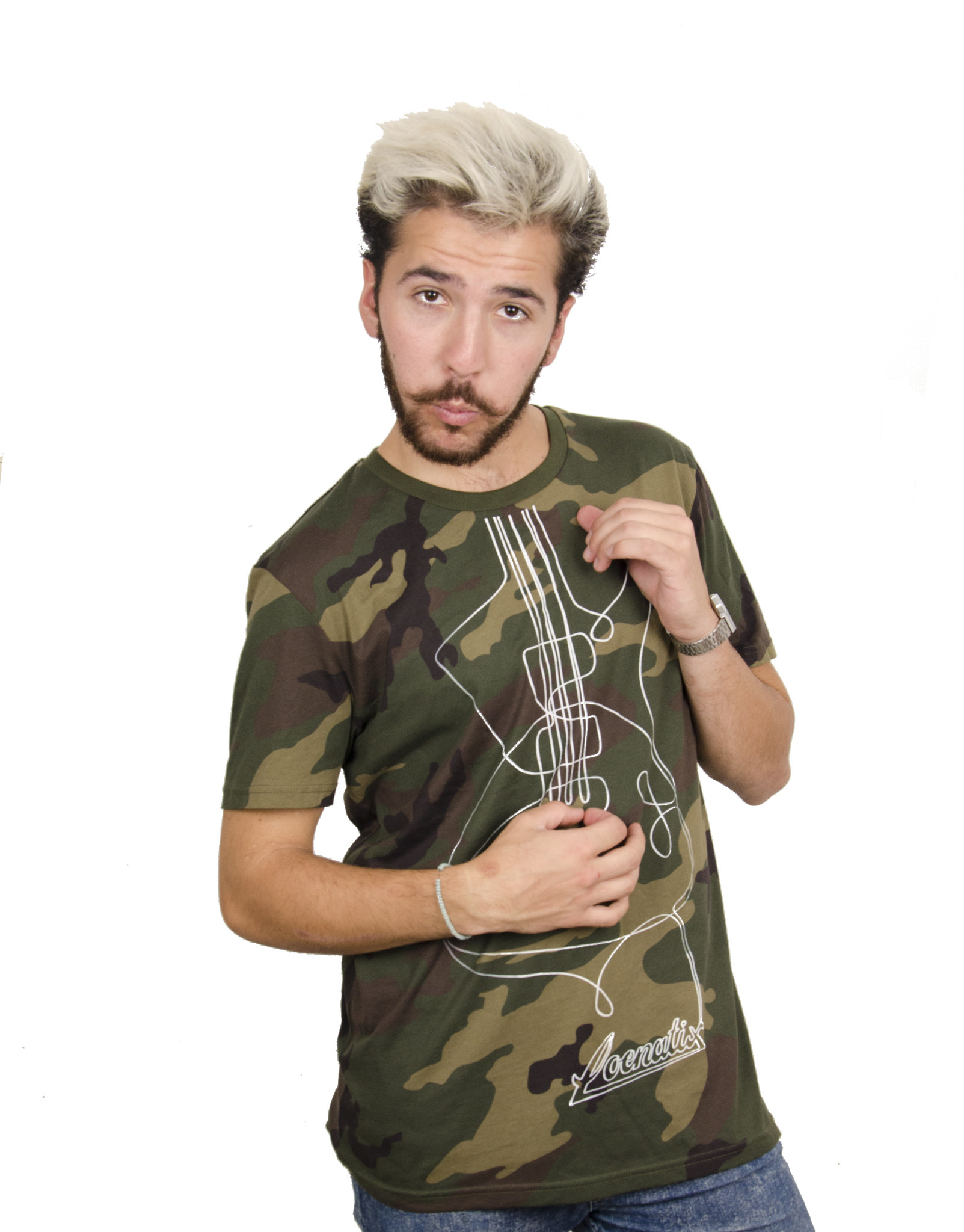 Guitar Camouflage T-shirt