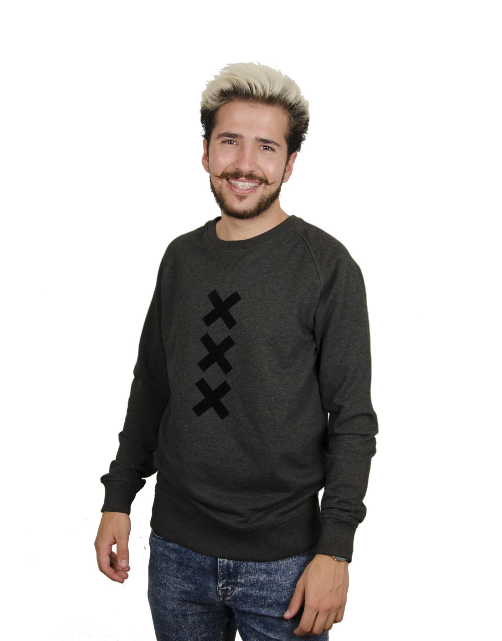 XXX (Black Suede) Dark H. Grey Sweater