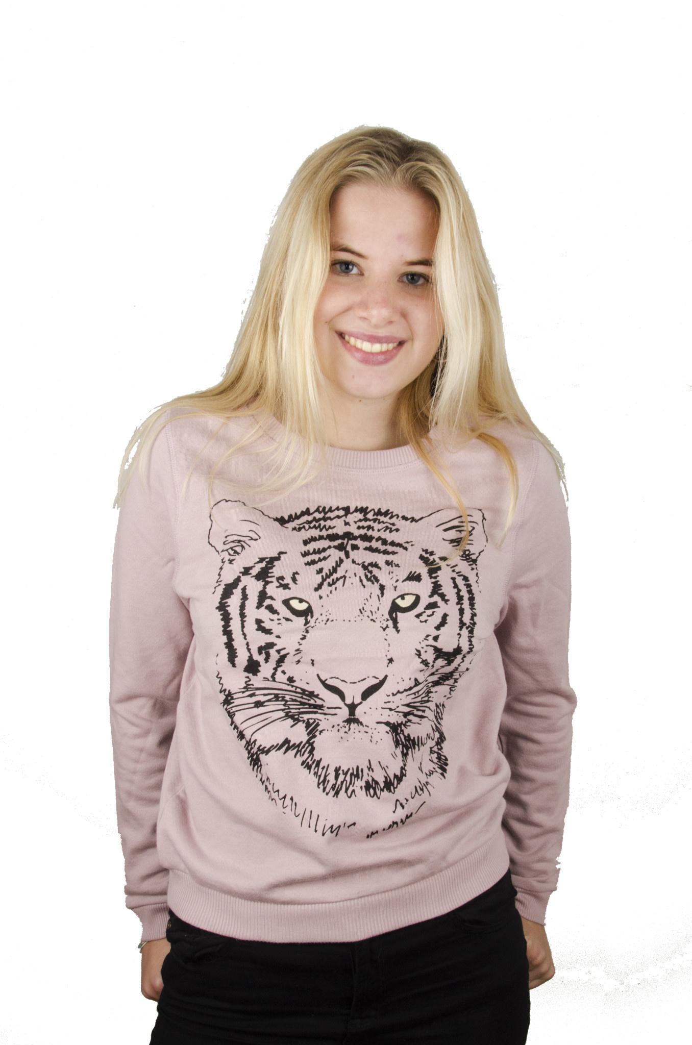 Black Tiger Sweater - Bicolor Crew Neck