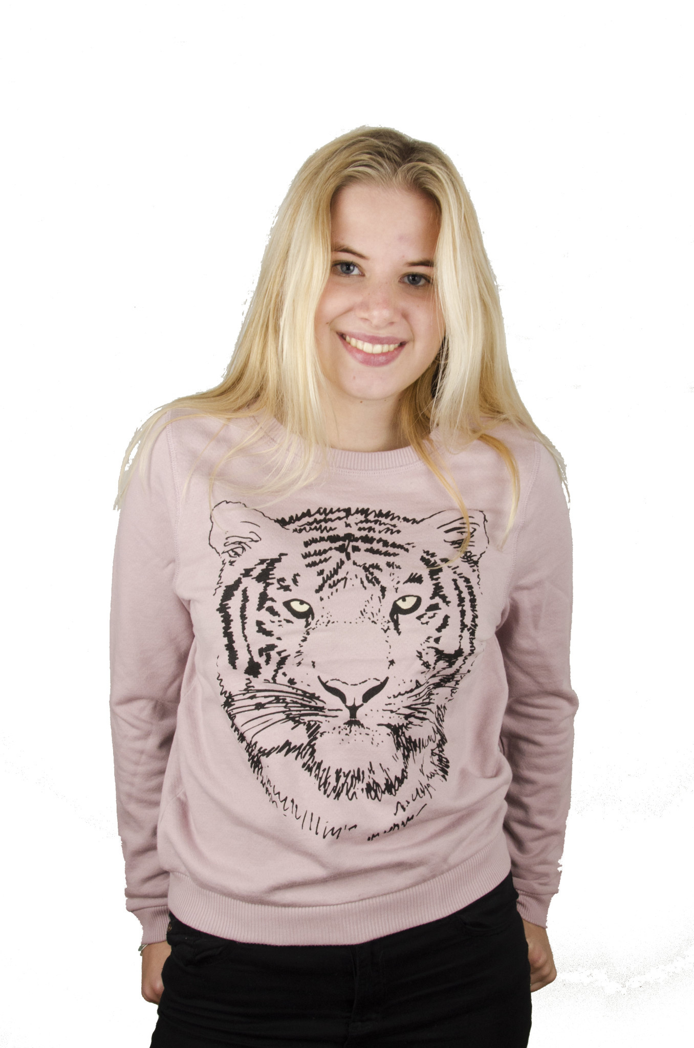 Black Tiger Sweater - Biocolor Crew Neck