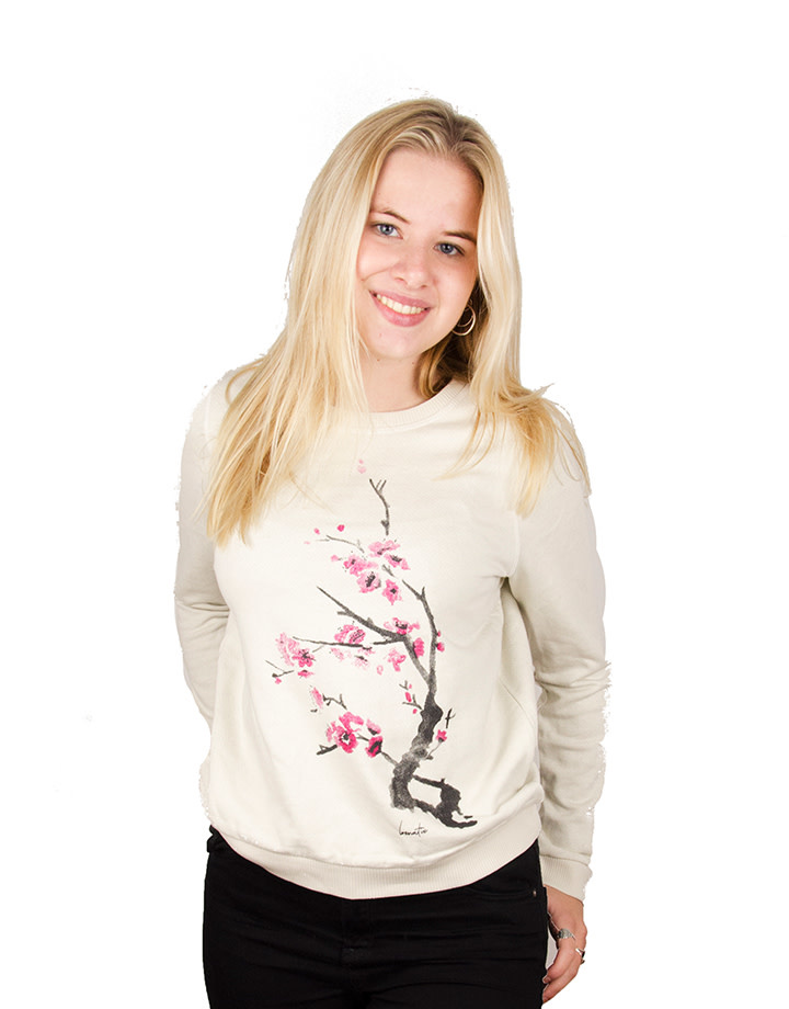 Cherry Blossom Biocolor Crew Neck Sweater