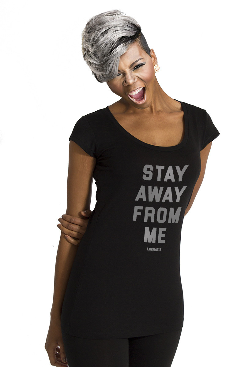 Stay Away From Me T-shirt - Black