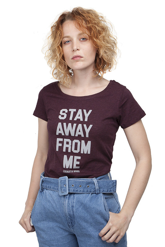 Corona Special: Stay Away From Me T-shirt - Heather Grape Red