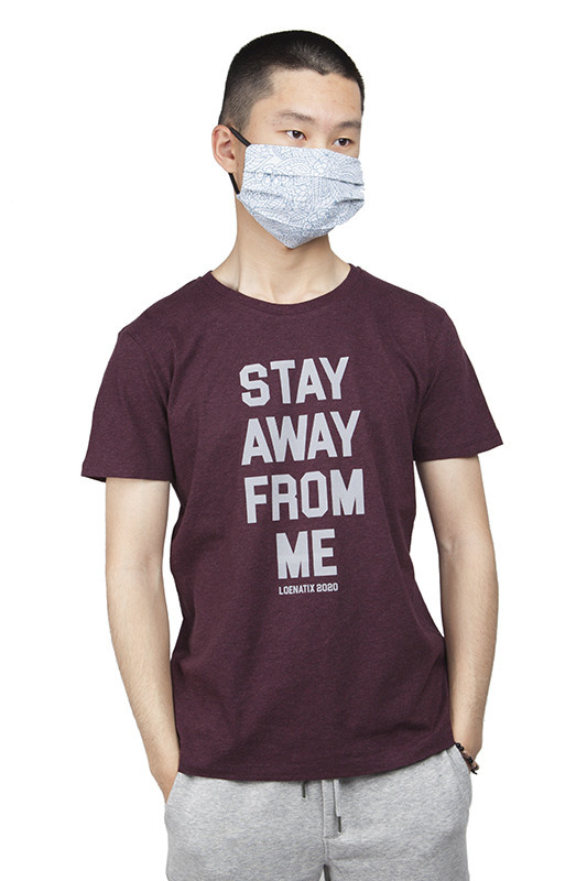 Stay Away From Me T-shirt - Heather Grape Red
