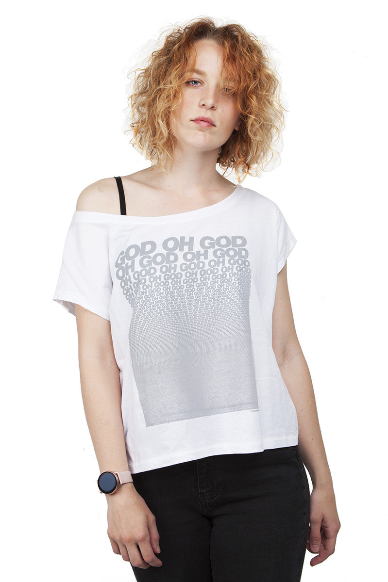God oh god T-shirt - Off the shoulder