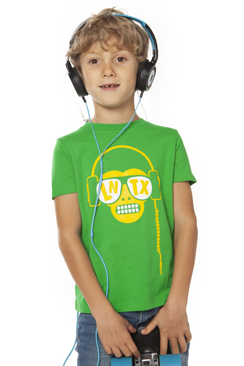Monkey DJ T-shirt - Green