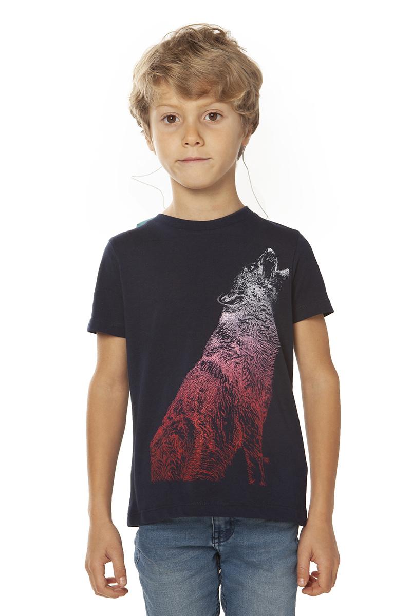 Howling Wolf T-shirt - Iris