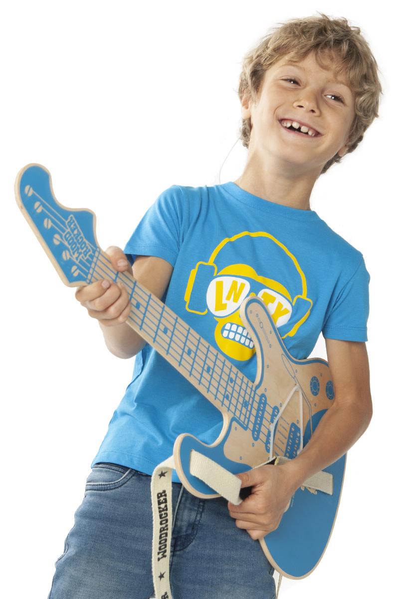 Monkey DJ T-shirt - Blue