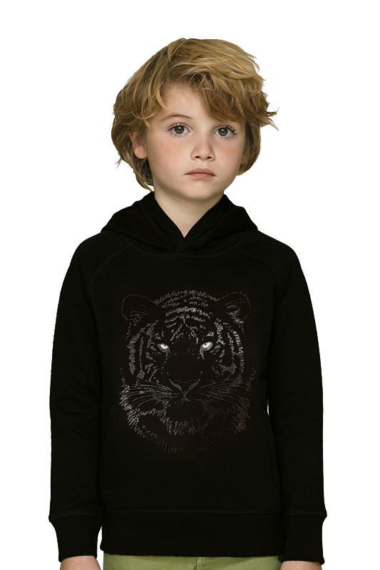 Zwarte Tijger Hoodie