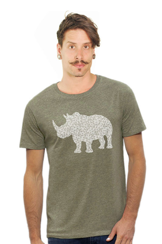 Neushoorn T-shirt - Mid Heather Khaki