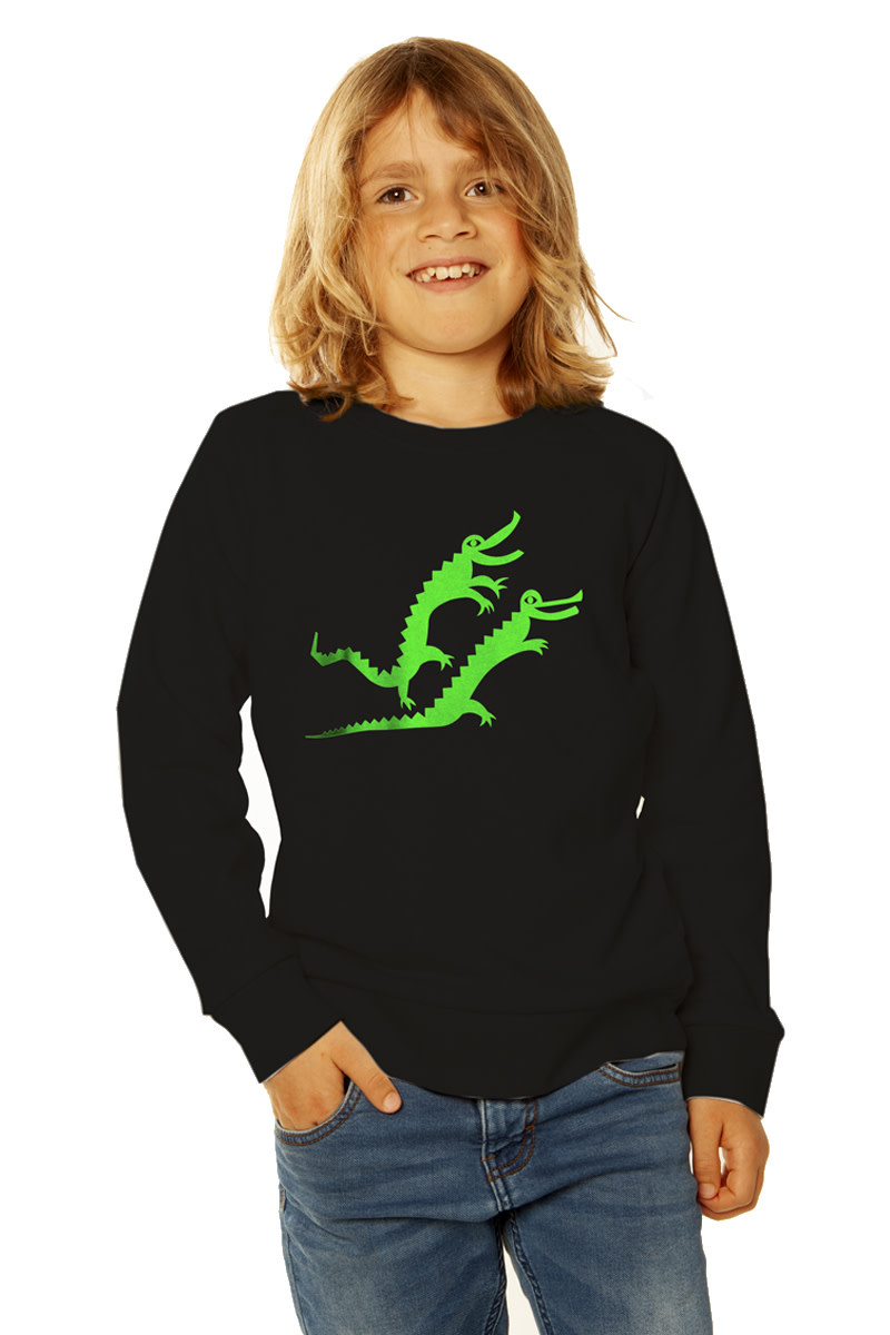 Krokodil Sweater - fluorgroen