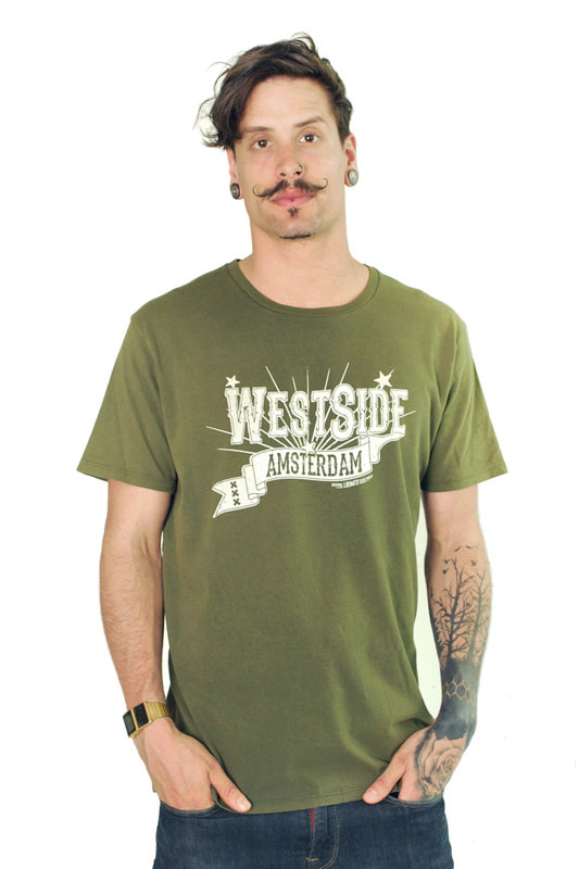 Old Westside Amsterdam T-shirt - Dyed Army Green
