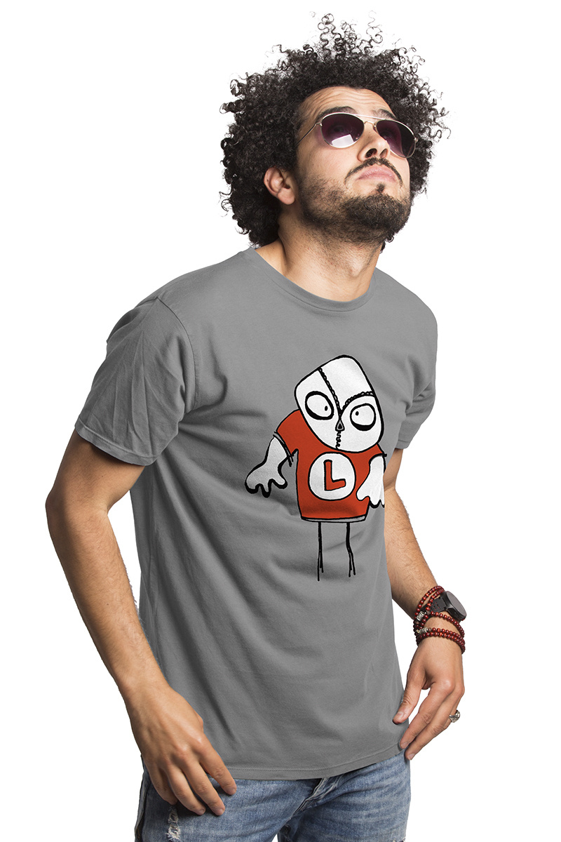 The Loenatix T-shirt - Opal Grey