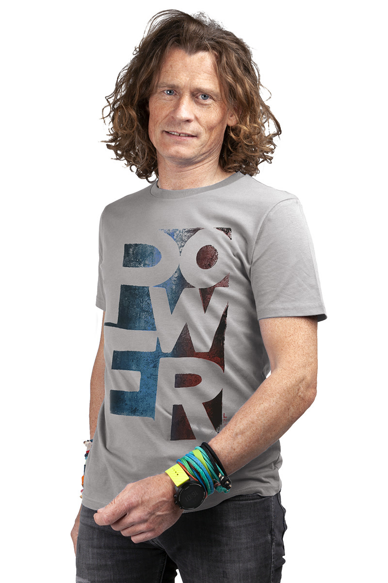 POWER T-shirt - Dyed - Stone Wash Green