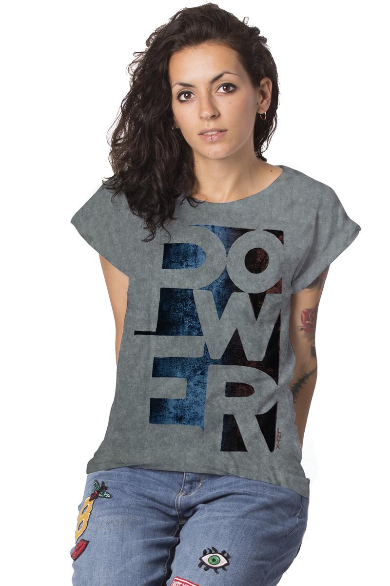 POWER T-shirt - Roll-up - White