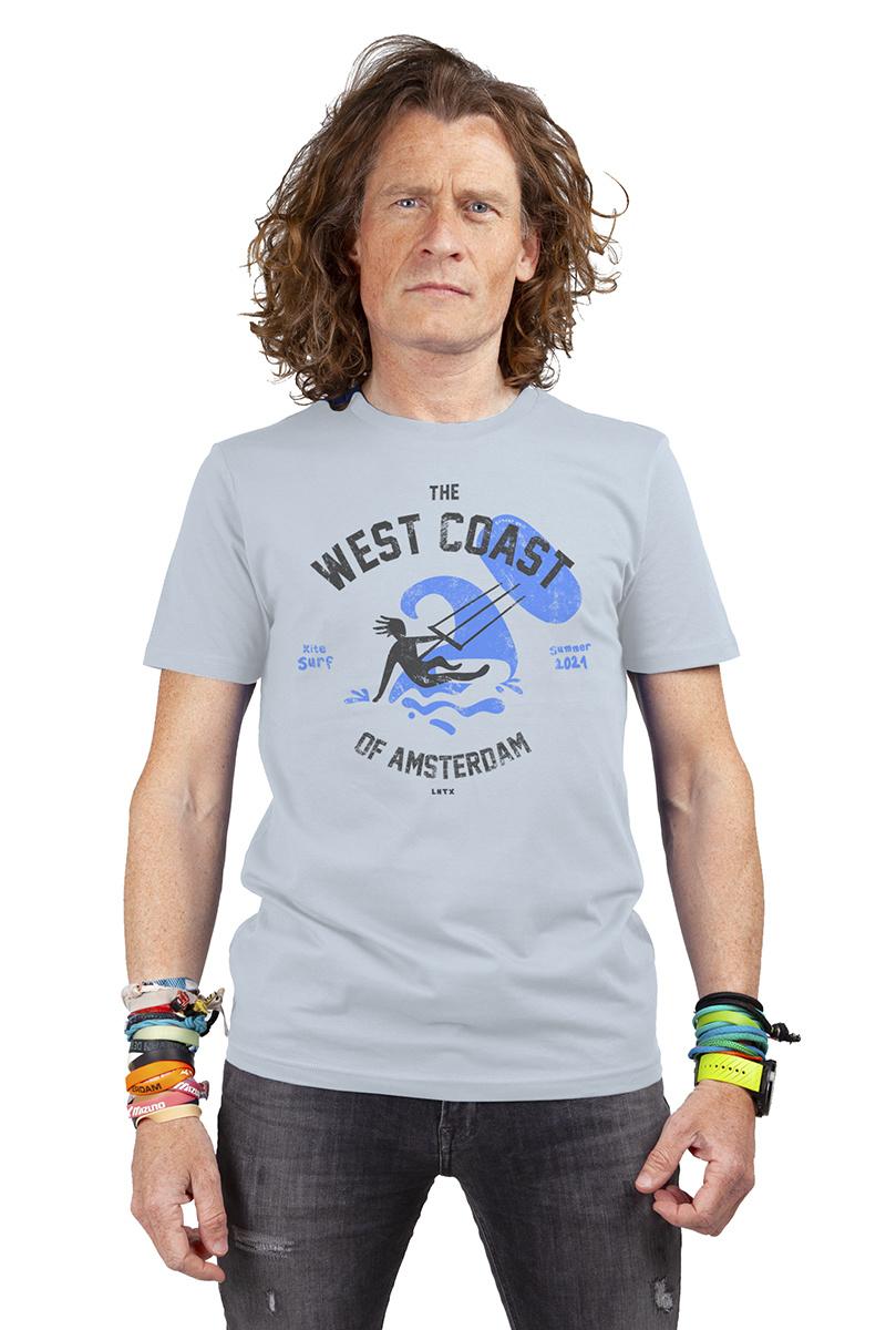 West Coast Surf T-shirt - Vintage Blue