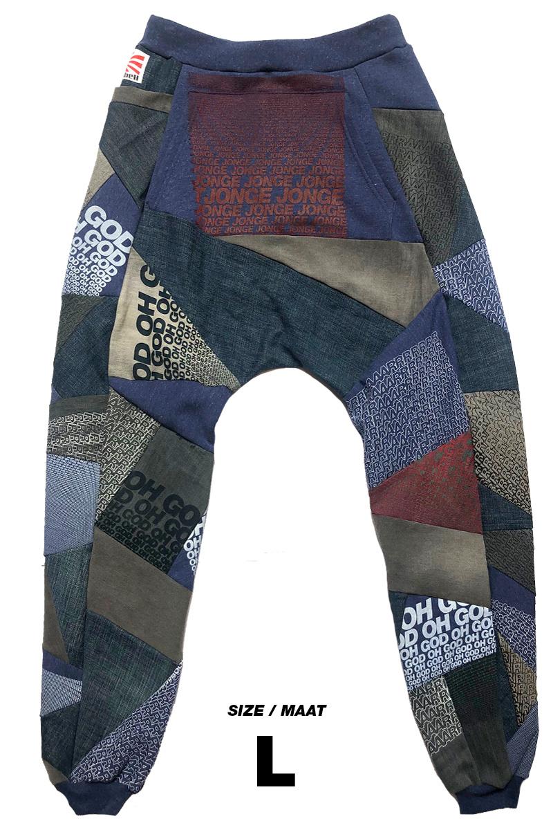 Loenatix Trackpants (One of a Kind) Nr. 6  -L- God/Raar Blauw/rood
