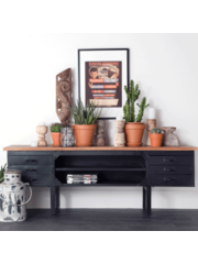 Eleonora Industrieel TV meubel van metaal met houten blad * Showroommodel
