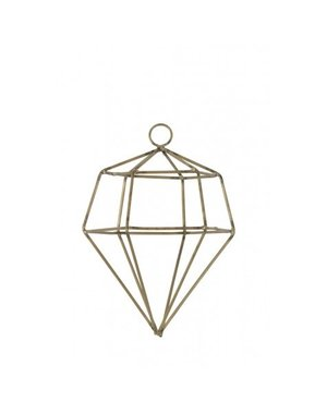 Light & Living Ornament hang Ø10x14 cm DIAMOND draad goud
