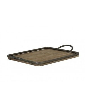 Light & Living Dienblad 51,5x31 cm MOULON hout-zink