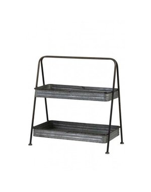 Light & Living Etagere 2 laags 49x26,5x50,5 cm GUSTAF zink