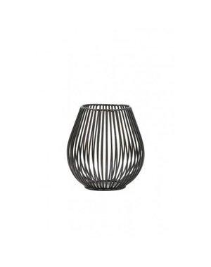 Light & Living Theelicht Ø11x11 cm VENADE mat zwart